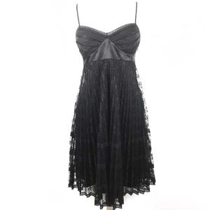 Betsey Johnson Black Lace  Sleeveless Dress 8